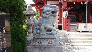 上千葉香取神社 拝殿前狛犬 阿