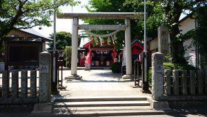 葛飾氷川神社 鳥居と社号標