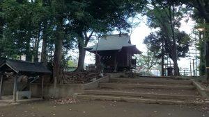 田柄愛宕神社 社殿付近