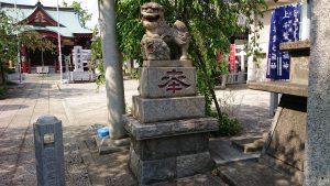 上千葉香取神社 二の鳥居狛犬 阿