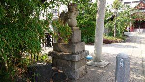 上千葉香取神社 二の鳥居狛犬 吽