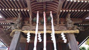 三輪厳嶋神社 向拝部彫刻
