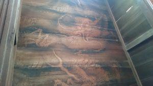 有鹿神社 本宮 拝殿天井龍絵図