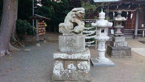 有鹿神社 本宮 拝殿前狛犬 阿