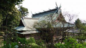 筑波山神社 拝殿後方