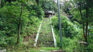 蚕影神社 参道石段上部