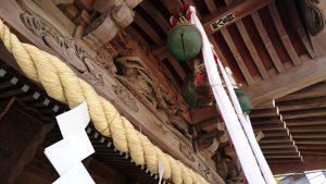 三輪厳嶋神社 向拝部彫刻 蟇股