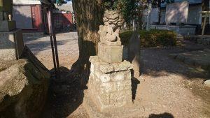 熊川神社 拝殿前狛犬 吽