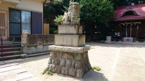 松が丘北野神社 狛犬 吽