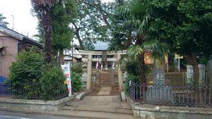 田柄天祖神社 鳥居と社号標