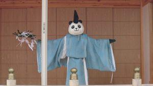 有鹿神社 パンダ宮司代理の舞 (2)