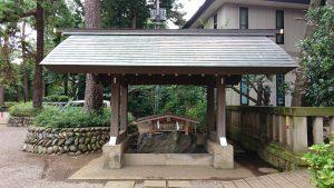 埼玉県護國神社 手水舎