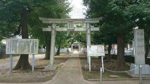 北野八幡神社 鳥居と社号標