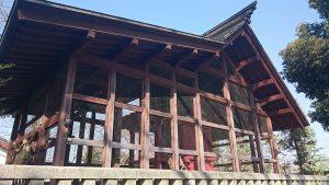 熊川神社 本殿覆殿 東側