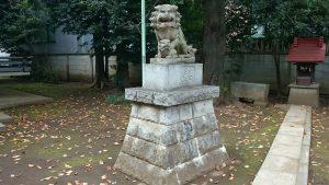 北野八幡神社 昭和43年狛犬 阿