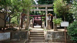 松が丘北野神社 鳥居と社号標