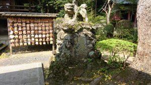筑波山神社 拝殿前狛犬 阿