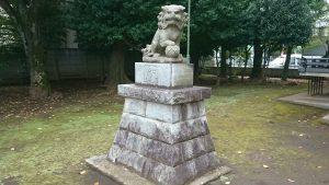 北野八幡神社 昭和43年狛犬 吽