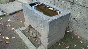 田柄天祖神社 明治20年銘 水鉢