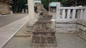 有鹿神社 本宮 鳥居前狛犬 阿