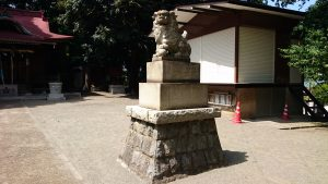 松が丘北野神社 狛犬 阿
