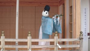 有鹿神社 パンダ宮司代理の舞 (1)