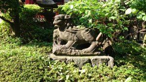 東大島神社 狛犬 阿