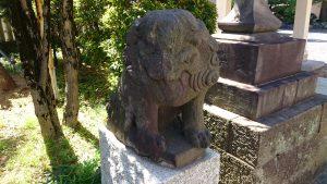 青砥神社 狛犬 吽