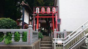 大島稲荷神社 西参道入口