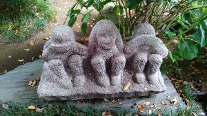 大島稲荷神社 三猿像